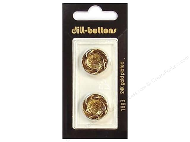 Dill Shank Buttons 11/16 in. Antique Gold #1883 2pc.