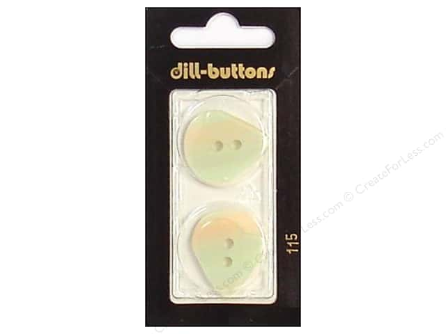 Dill 2 Hole Buttons 1 in. Iridescent White #115 2pc.