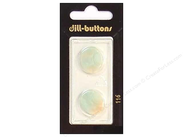 Dill Shank Buttons 11/16 in. Iridescent White #116 2pc.