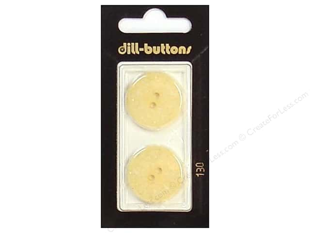 Dill 2 Hole Buttons 7/8 in. Ivory #130 2pc.