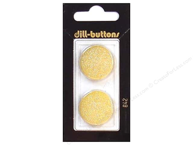 Dill Shank Buttons 7/8 in. Glitter Gold #842 2pc.