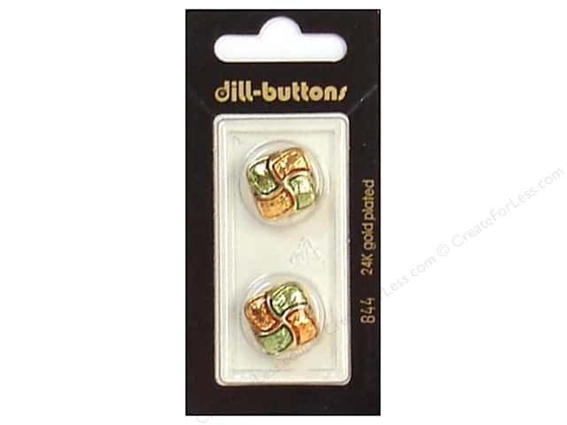 Dill Shank Buttons 11/16 in. Enamel Green/Orange #844 2pc.