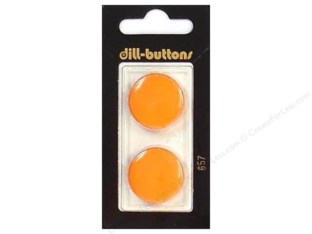 Dill Shank Buttons 7/8 in. Orange #857 2pc.