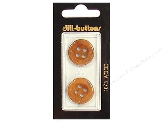 Dill 4 Hole Buttons 13/16 in. Wood Brown #1073 2pc.