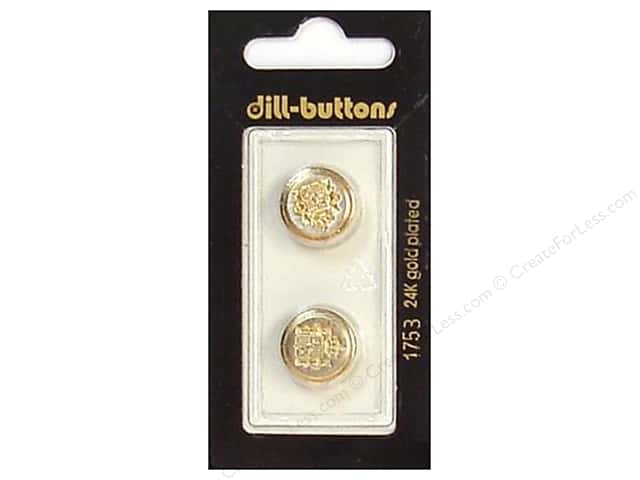 Dill Shank Buttons 5/8 in. Gold/Silver Metal #1753 2pc.