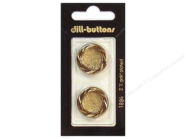 Dill Shank Buttons 7/8 in. Antique Gold #1884 2pc.