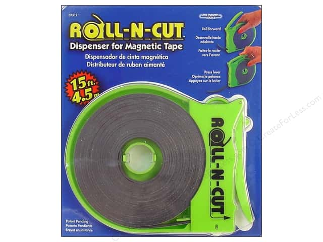 The Magnet Source Roll-N-Cut Dispenser with Magnetic Tape