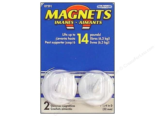 The Magnet Source Magnet Hooks 1 1/4 in. 2 pc. White