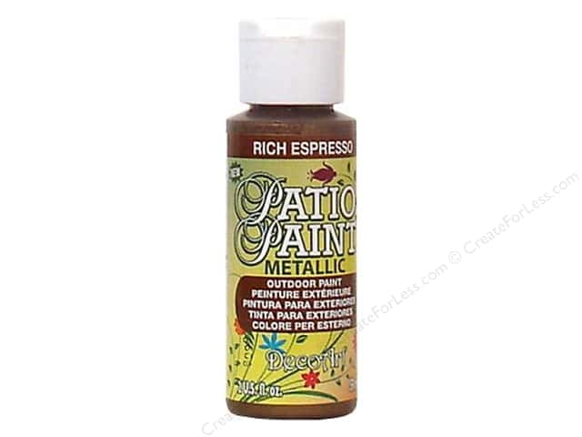 DecoArt Patio Paint Outdoor Acrylic Paint 2 oz. #401 Metallic Rich Espresso