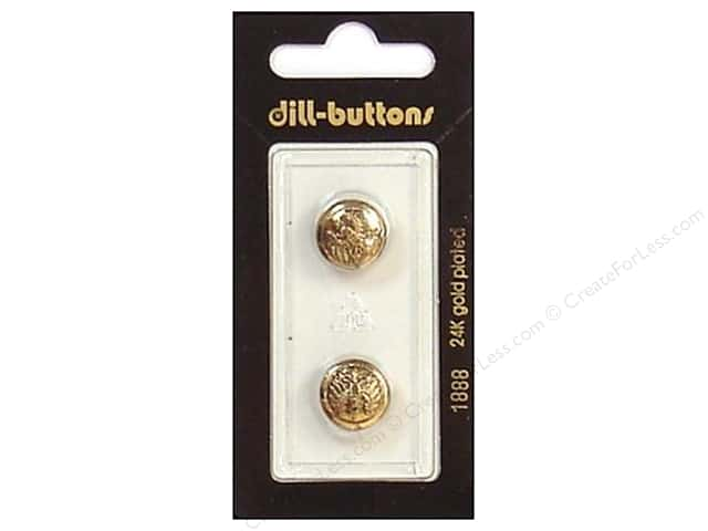 Dill Shank Buttons 9/16 in. Antique Gold #1888 2pc.