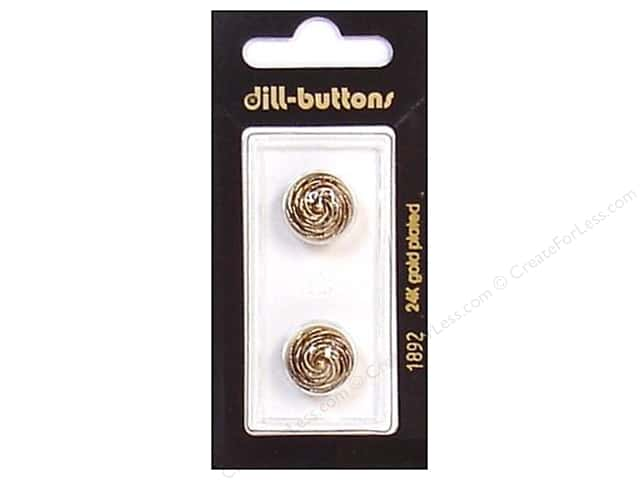 Dill Shank Buttons 9/16 in. Antique Gold #1892 2 pc.