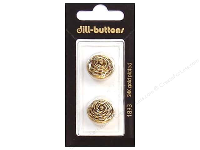 Dill Shank Buttons 11/16 in. Antique Gold #1893 2pc.