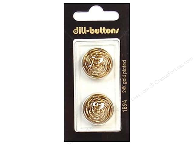 Dill Shank Buttons 7/8 in. Antique Gold #1894 2pc.