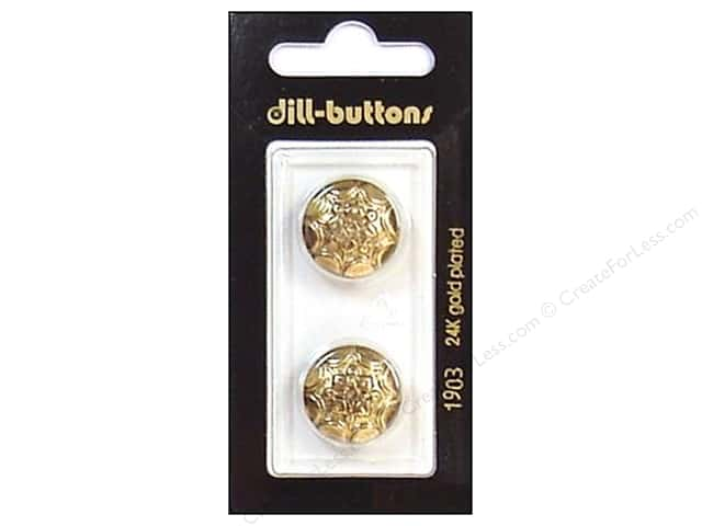 Dill Shank Buttons 11/16 in. Antique Gold #1903 2pc.