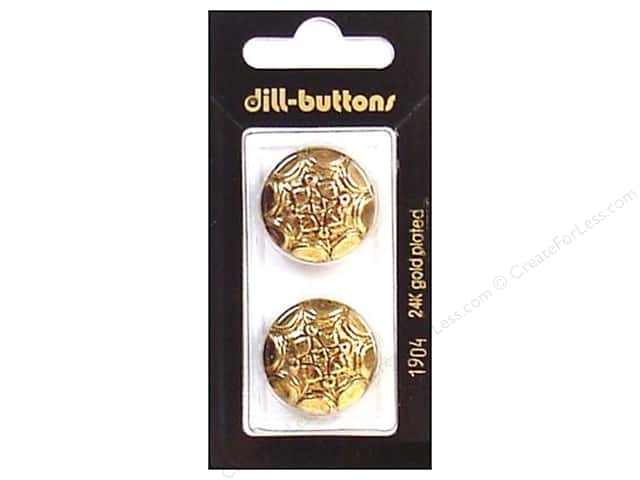 Dill Shank Buttons 7/8 in. Antique Gold #1904 2pc.