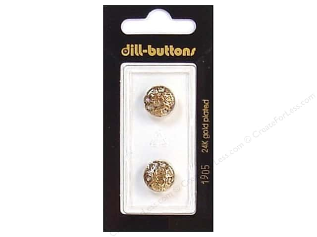 Dill Shank Buttons 1/2 in. Antique Gold #1905 2pc.