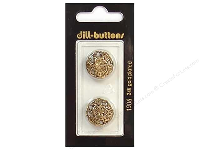 Dill Shank Buttons 11/16 in. Antique Gold #1906 2 pc.