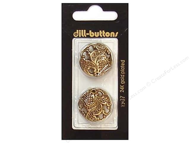 Dill Shank Buttons 7/8 in. Antique Gold #1907 2pc.