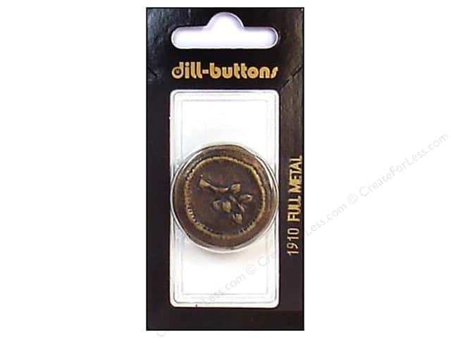 Dill Shank Buttons 1 1/4 in. Antique Brass Metal #1910 2pc.