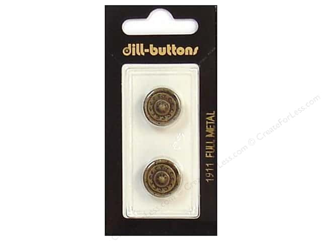 Dill Shank Buttons 5/8 in. Antique Brass Metal #1911 2pc.