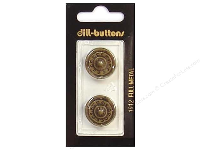 Dill Shank Buttons 13/16 in. Antique Brass Metal #1912 2pc.