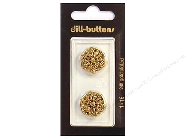 Dill Shank Buttons 11/16 in. Antique Gold #1916 2pc.