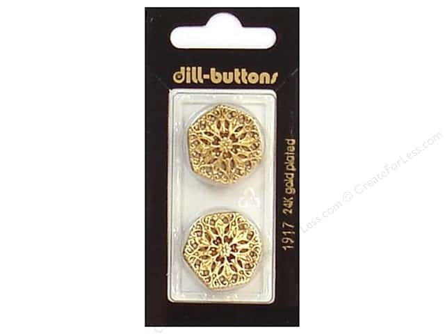 Dill Shank Buttons 7/8 in. Antique Gold #1917 2pc.