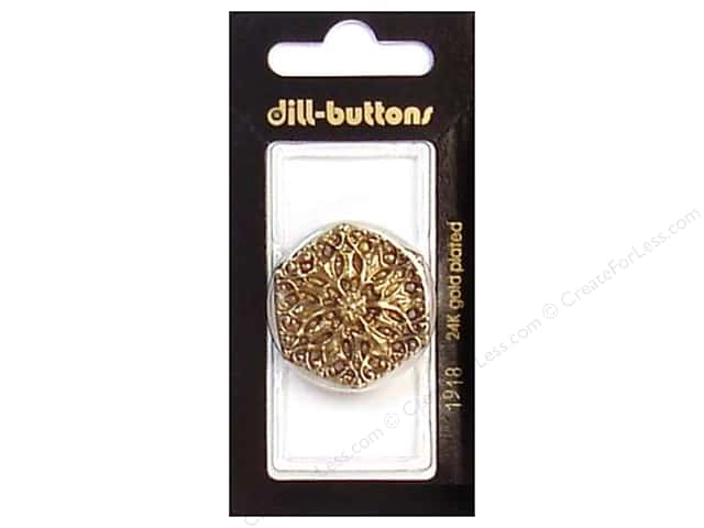 Dill Shank Buttons 1 1/4 in. Antique Gold #1918 1pc.
