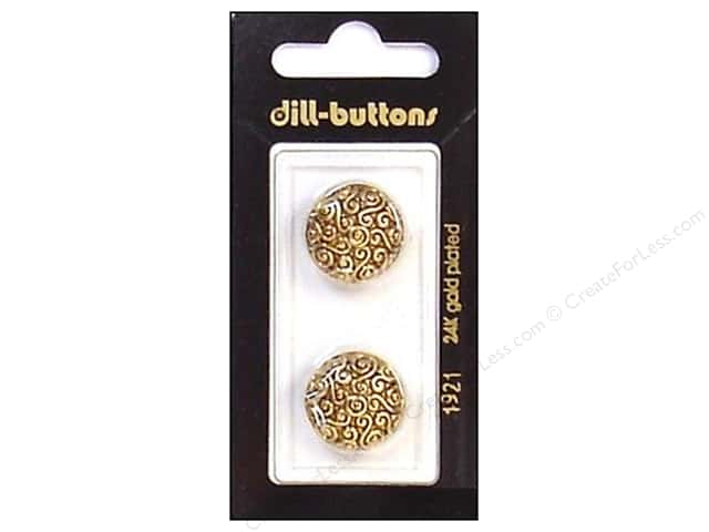 Dill Shank Buttons 11/16 in. Antique Gold #1921 2pc.