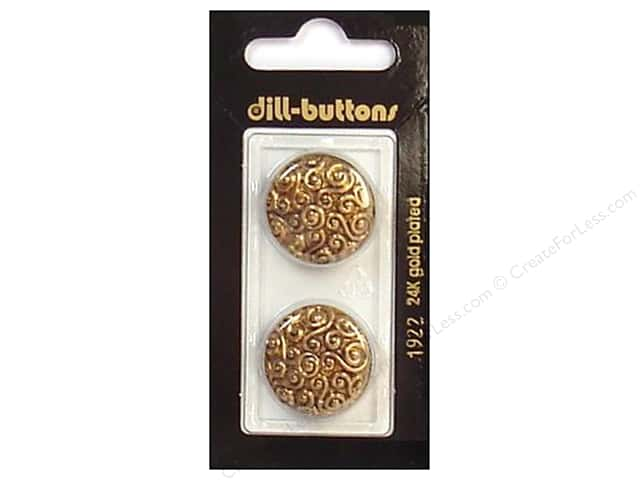 Dill Shank Buttons 7/8 in. Antique Gold #1922 2 pc.
