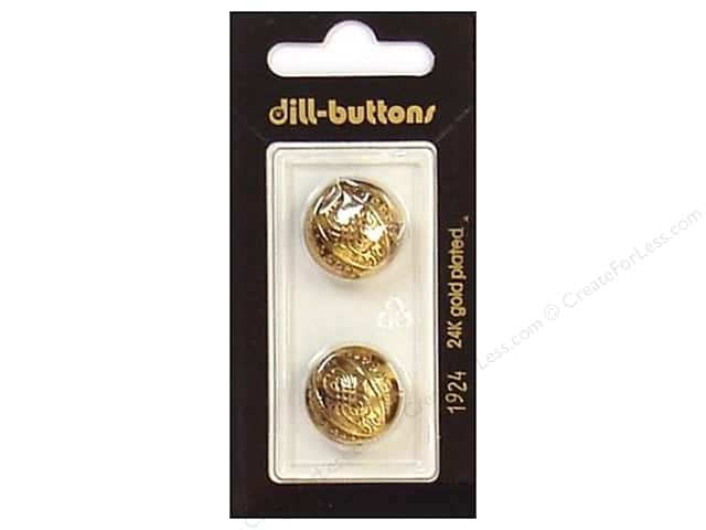 Dill Shank Buttons 11/16 in. Antique Gold #1924 2pc.