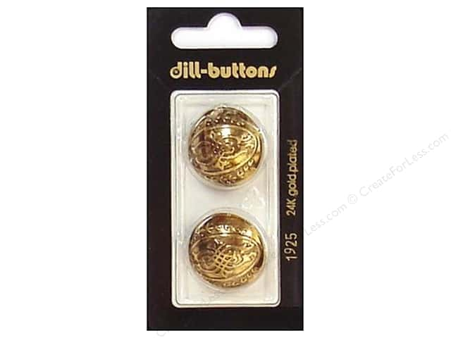 Dill Shank Buttons 7/8 in. Antique Gold #1925 2 pc.