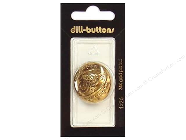 Dill Shank Buttons 1 1/8 in. Antique Gold #1926 1 pc.