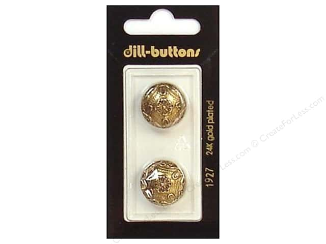 Dill Shank Buttons 11/16 in. Antique Gold #1927 2pc.