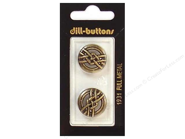 Dill Shank Buttons 13/16 in. Antique Brass Metal #1931 2pc.