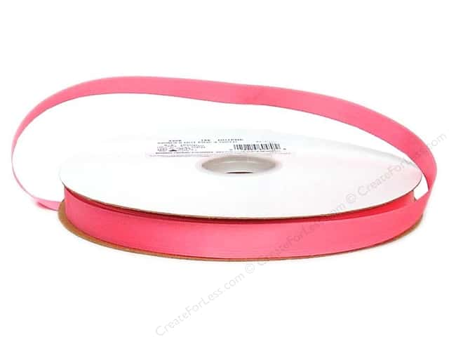Offray Double Face Satin Ribbon 5/8 in. x 100 yd. Hot Pink (100 yards)