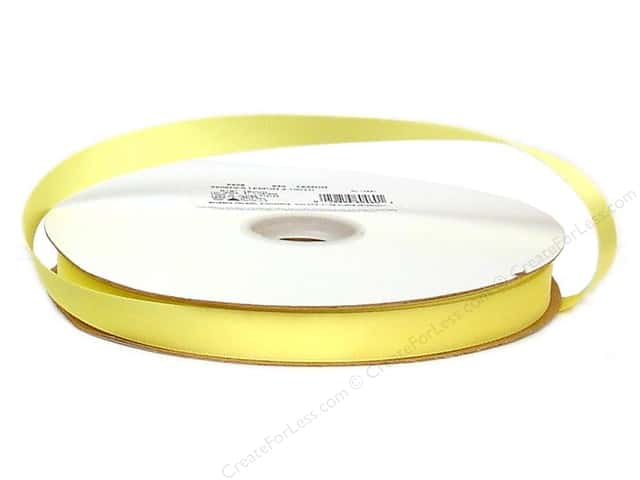Offray Double Face Satin Ribbon 5/8 in. x 100 yd. Lemon (100 yards)