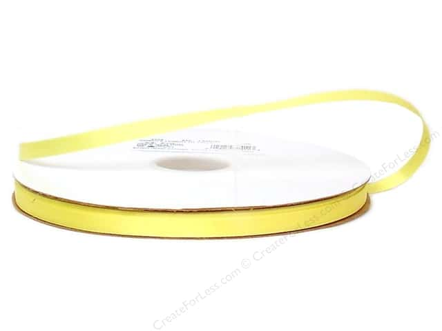 Offray Double Face Satin Ribbon 3/8 in. x 100 yd. Lemon (100 yards)