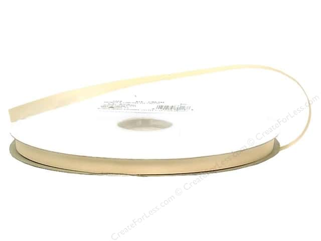 Offray Double Face Satin Ribbon 3/8 in. x 100 yd. Cream (100 yards)