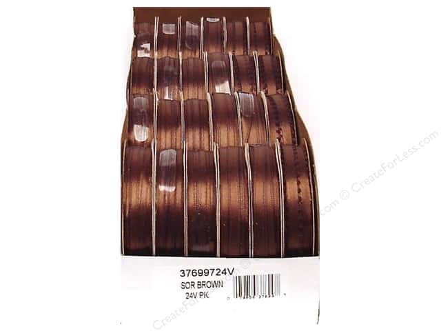 Offray Spool-O-Ribbon Double Face Satin Brown