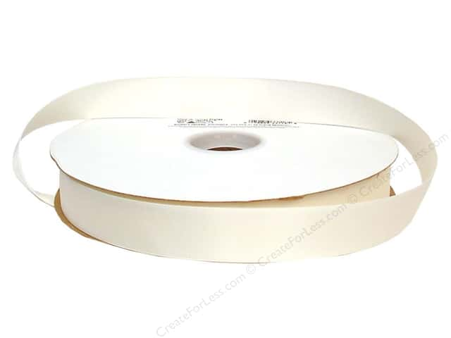 Offray Double Face Satin Ribbon 7/8 in. x 100 yd. Antique White