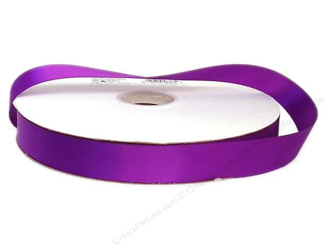 Offray Double Face Satin Ribbon 7/8 in. x 100 yd. Purple
