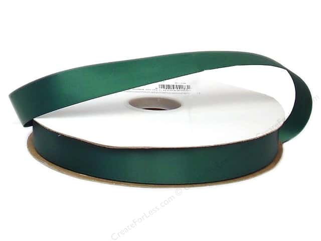 Offray Double Face Satin Ribbon 7/8 in. x 100 yd. Forest Green