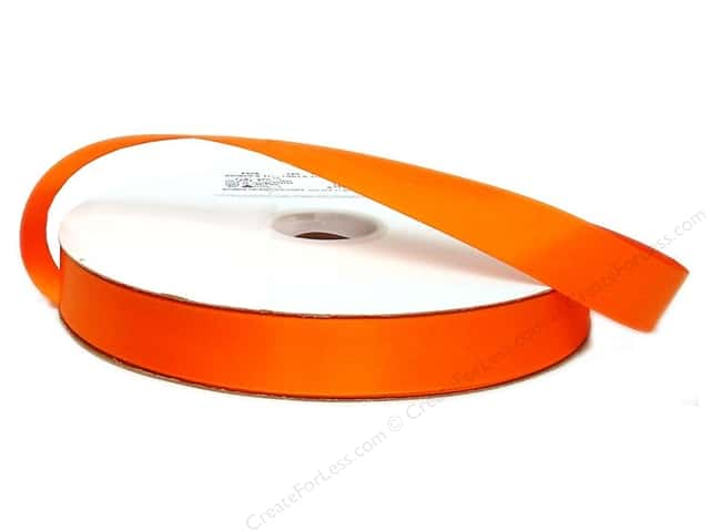 Offray Double Face Satin Ribbon 7/8 in. x 100 yd. Torrid Orange