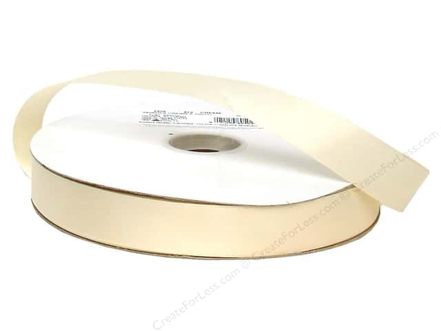 Offray Double Face Satin Ribbon 7/8 in. x 100 yd. Cream