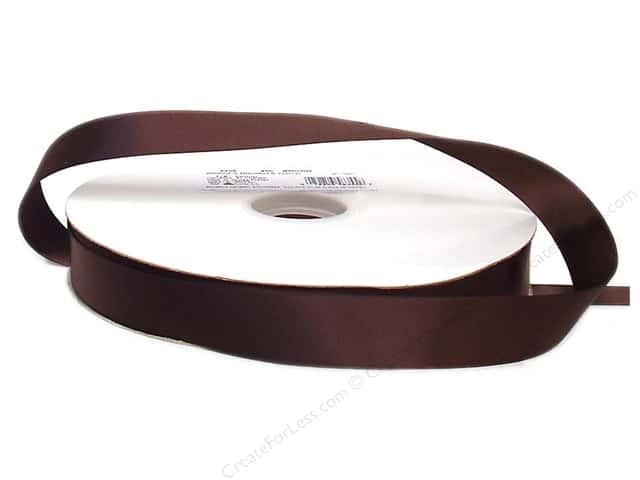Offray Double Face Satin Ribbon 7/8 in. x 100 yd. Brown (100 yards)