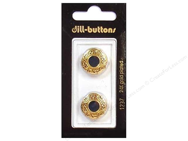 Dill Shank Buttons 11/16 in. Enamel Green/Gold #1237 2pc.