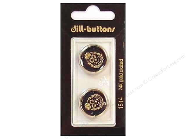 Dill Shank Buttons 3/4 in. Enamel Navy/Gold #1514 2 pc.