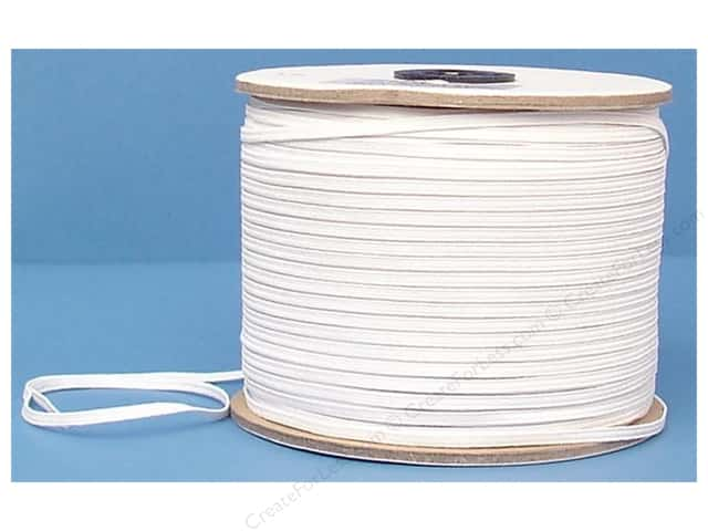 Conrad Jarvis Braided Flat Elastic 1/8 in x 300 yd White