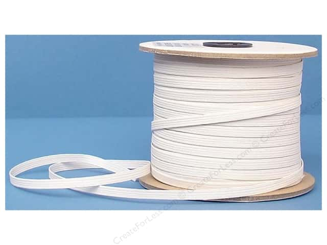 Conrad Jarvis Braided Flat Elastic 1/4 in x 120 yd White